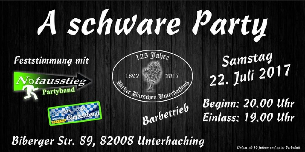 Plakat Schware Party